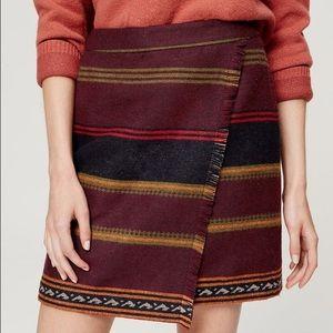 Loft Fringe Blanket Skirt